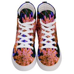 Yellow, Pink, And Blue Sumac Bloom Women s Hi Top Skate Sneakers