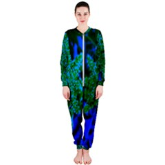 Blue And Green Sumac Bloom Onepiece Jumpsuit (ladies)