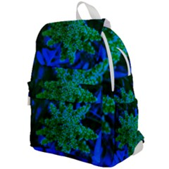 Blue And Green Sumac Bloom Top Flap Backpack