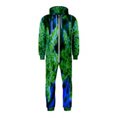 Lime Green Sumac Bloom Hooded Jumpsuit (kids)