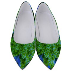 Lime Green Sumac Bloom Women s Low Heels
