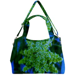 Lime Green Sumac Bloom Double Compartment Shoulder Bag