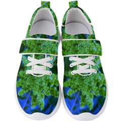 Lime Green Sumac Bloom Men s Velcro Strap Shoes by okhismakingart