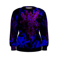 Maroon And Blue Sumac Bloom Women s Sweatshirt