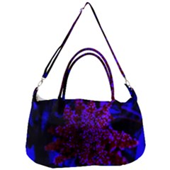 Maroon And Blue Sumac Bloom Removal Strap Handbag
