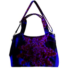 Maroon And Blue Sumac Bloom Double Compartment Shoulder Bag