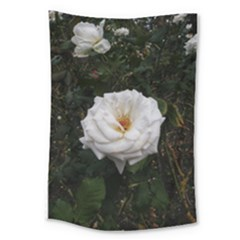 White Smooth Rose Large Tapestry