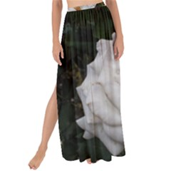 White Smooth Rose Maxi Chiffon Tie Up Sarong