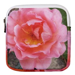 Pink Rose Mini Square Pouch