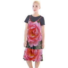 Pink Rose Camis Fishtail Dress