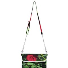 Deep Red Rose Mini Crossbody Handbag