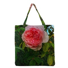 Complex Pink Rose Grocery Tote Bag