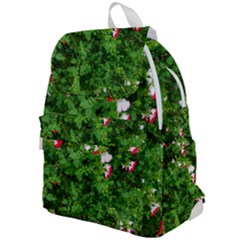 Red And White Park Flowers Top Flap Backpack