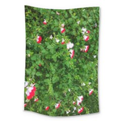 Red And White Park Flowers Large Tapestry