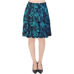 Sidewalk Flower Velvet High Waist Skirt