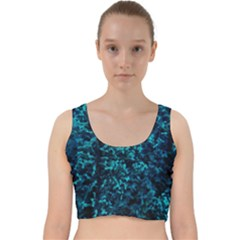 Sidewalk Flower Velvet Racer Back Crop Top