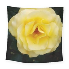 Pale Yellow Rose Square Tapestry (large)