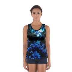 Cascade Of Flowers Sport Tank Top