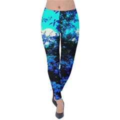 Cascade Of Flowers Velvet Leggings by okhismakingart