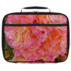 Folded Pink And Orange Rose Full Print Lunch Bag