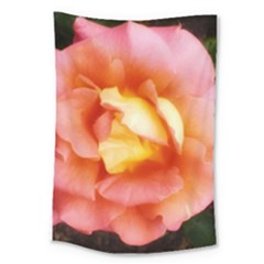 Light Orange And Pink Rose Large Tapestry