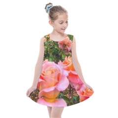 Pink Rose Field Kids  Summer Dress