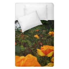 Orange Rose Field Duvet Cover Double Side (single Size)