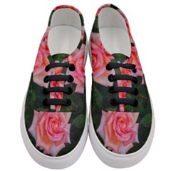 Pink Angular Rose Women s Classic Low Top Sneakers
