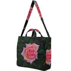 Pink Angular Rose Square Shoulder Tote Bag