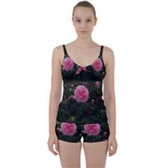 Pink Rose Field Ii Tie Front Two Piece Tankini