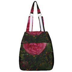 Round Pink Rose Center Zip Backpack
