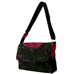 Round Pink Rose Full Print Messenger Bag