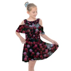 Floral Stars Kids  Shoulder Cutout Chiffon Dress
