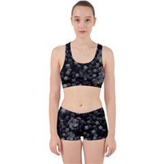 Floral Stars  Black And White Work It Out Gym Set