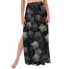 Floral Stars  Black And White Maxi Chiffon Tie Up Sarong
