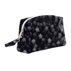 Floral Stars  Black And White, High Contrast Wristlet Pouch Bag (medium)