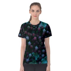 Floral Stars  Blue Women s Cotton Tee
