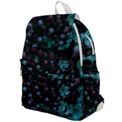 Floral Stars  Blue Top Flap Backpack