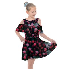 Floral Stars  Bright Kids  Shoulder Cutout Chiffon Dress