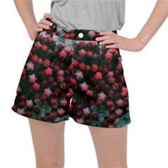 Floral Stars  Bright Stretch Ripstop Shorts