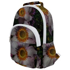 Light Purple Blossoms Rounded Multi Pocket Backpack