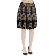 Light Purple Blossoms Pleated Skirt