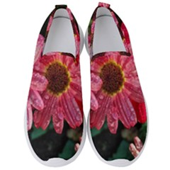 Three Dripping Flowers Men s Slip On Sneakers by okhismakingart