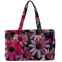 Pink Asters Canvas Work Bag