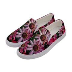 Pink Asters Women s Canvas Slip Ons by okhismakingart