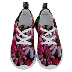 Pink Asters Running Shoes