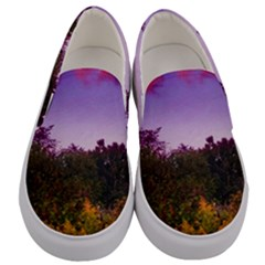 Purple Afternoon Men s Canvas Slip Ons