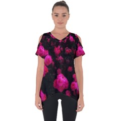 Bunches Of Roses Cut Out Side Drop Tee