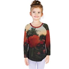 Rose Landscape Kids  Long Sleeve Tee
