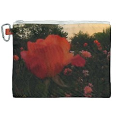 Rose Landscape Canvas Cosmetic Bag (xxl)